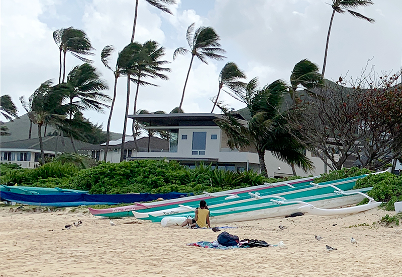 ラニカイビーチ周辺もやっぱり豪邸ばかりでした。