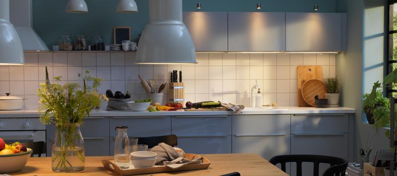 IKEAキッチン照明