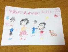 若葉ちゃんが描いた家族の絵