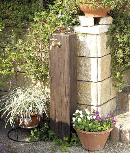 オンリーワンのコンクリート製水栓柱