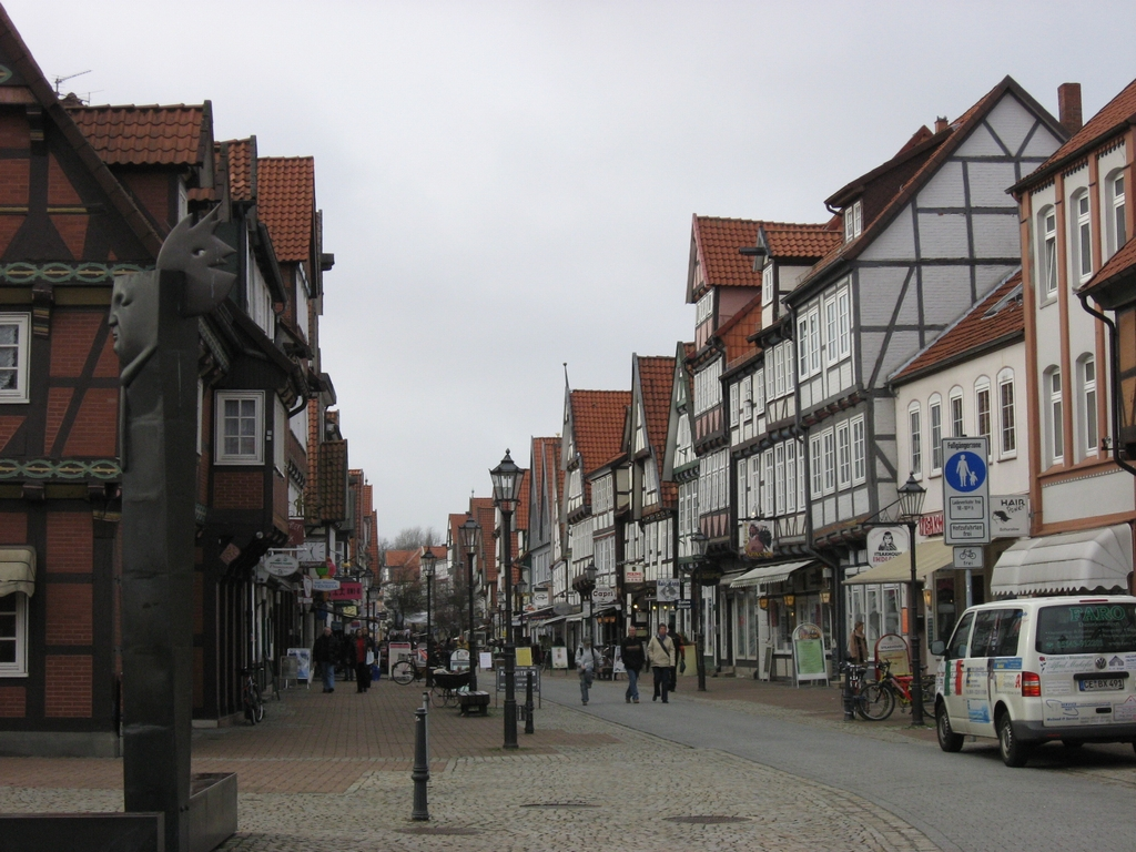 ドイツの美しい町並みと石畳