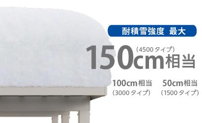 積雪150cm対応